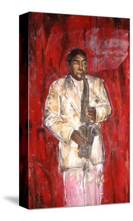 Sax Player-Marta Gottfried-Stretched Canvas Print