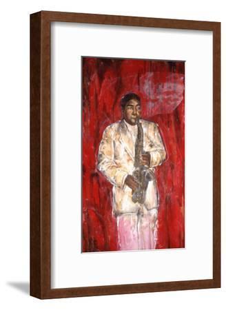 Sax Player-Marta Gottfried-Framed Premium Giclee Print