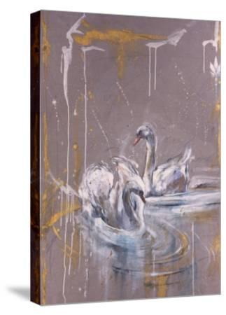 Swans I-Marta Gottfried-Stretched Canvas Print