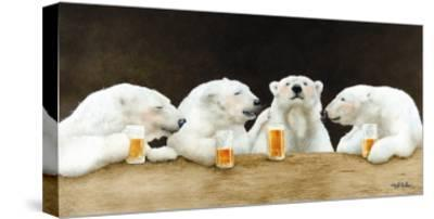 Polar Beers-Will Bullas-Stretched Canvas Print