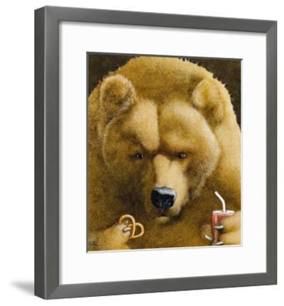 Pretzels & Soda & Bear-Will Bullas-Framed Premium Giclee Print