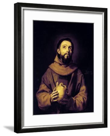 St. Francis, Palatine Gallery, Pitti Palace, Florence-Jusepe de Ribera-Framed Giclee Print
