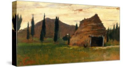 Landscape, Silvestro Lega, National Modern Art Gallery, Florence-Silvestro Lega-Stretched Canvas Print