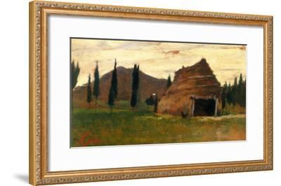 Landscape, Silvestro Lega, National Modern Art Gallery, Florence-Silvestro Lega-Framed Giclee Print