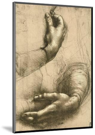 Study of Female Hands, Drawing, Royal Library, Windsor-Leonardo da Vinci-Mounted Premium Giclee Print