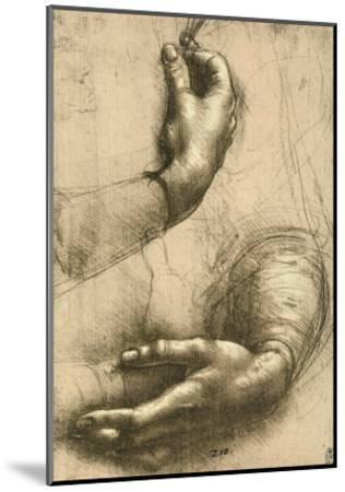 Study of Female Hands, Drawing, Royal Library, Windsor-Leonardo da Vinci-Mounted Giclee Print