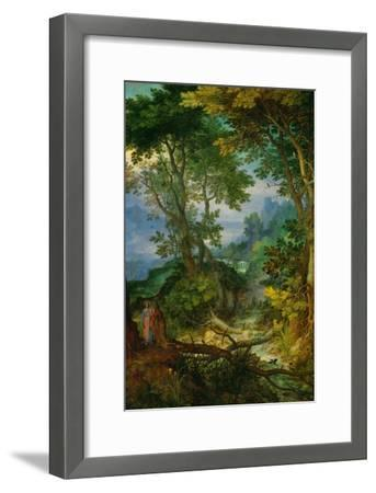 Mountain Landscape with the Temptation of Christ, 1605-1610-Jan Brueghel the Elder-Framed Giclee Print