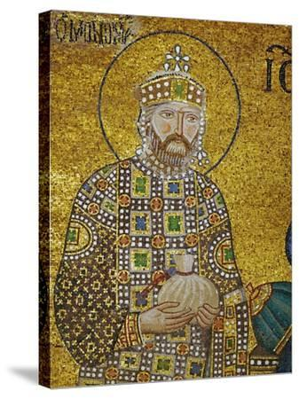Emperor Constantine IX Monomachos (1042-1054) Holding the Money-Bag with the Church's Endowment--Stretched Canvas Print