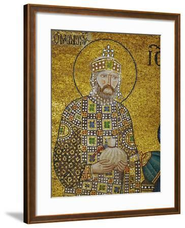 Emperor Constantine IX Monomachos (1042-1054) Holding the Money-Bag with the Church's Endowment--Framed Giclee Print