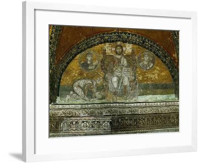 Christ Enthroned, Blessing--Framed Giclee Print