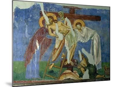 Deposition and Lamentation, circa 1164, Byzantine Fresco--Mounted Giclee Print