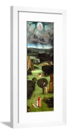 Adam and Eve, Expulsion from Paradise, Left Wing of the Triptych of the Last Judgment-Hieronymus Bosch-Framed Giclee Print