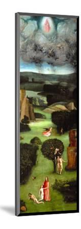Adam and Eve, Expulsion from Paradise, Left Wing of the Triptych of the Last Judgment-Hieronymus Bosch-Mounted Giclee Print
