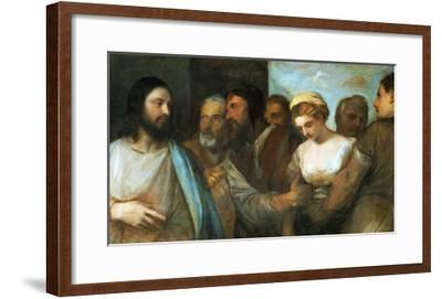 Christ and the Adultress; Unfinished, 1512-1515-Titian (Tiziano Vecelli)-Framed Giclee Print