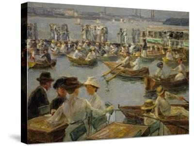 On the Shores of the Alster, Hamburg, 1910-Max Liebermann-Stretched Canvas Print