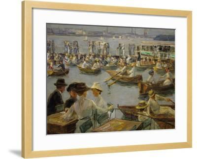 On the Shores of the Alster, Hamburg, 1910-Max Liebermann-Framed Giclee Print