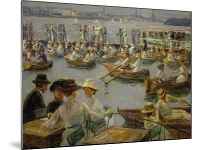 On the Shores of the Alster, Hamburg, 1910-Max Liebermann-Mounted Giclee Print