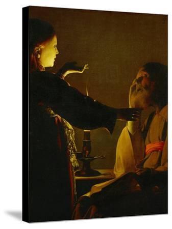 The Dream of Saint Joseph, circa 1635-1640-Georges de La Tour-Stretched Canvas Print