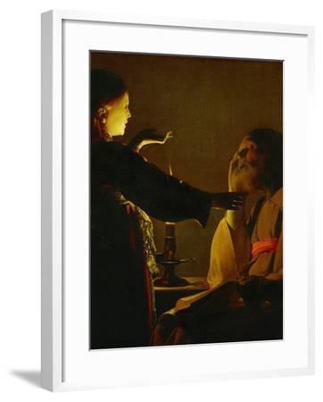 The Dream of Saint Joseph, circa 1635-1640-Georges de La Tour-Framed Giclee Print