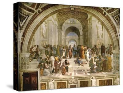 School of Athens, circa 1510-1512, One of the Murals Raphael Painted for Pope Julius II-Raphael-Stretched Canvas Print