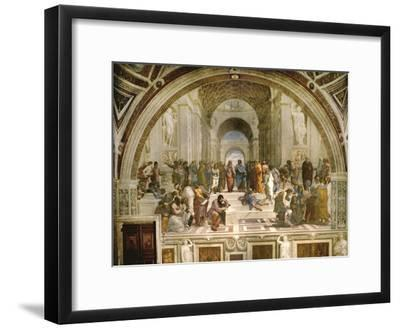 School of Athens, circa 1510-1512, One of the Murals Raphael Painted for Pope Julius II-Raphael-Framed Giclee Print