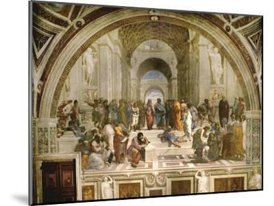 School of Athens, circa 1510-1512, One of the Murals Raphael Painted for Pope Julius II-Raphael-Mounted Giclee Print