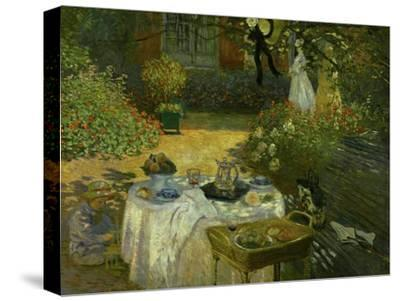 Le Dejeuner (Luncheon in the Artist's Garden at Giverny), circa 1873-74-Claude Monet-Stretched Canvas Print