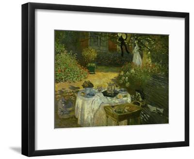 Le Dejeuner (Luncheon in the Artist's Garden at Giverny), circa 1873-74-Claude Monet-Framed Giclee Print