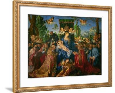 Feast of the Rose Garland, 1506-Albrecht D?rer-Framed Giclee Print