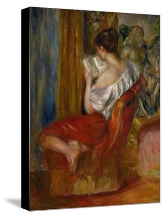 Reading Woman, circa 1900-Pierre-Auguste Renoir-Stretched Canvas Print