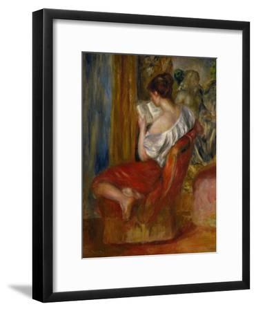 Reading Woman, circa 1900-Pierre-Auguste Renoir-Framed Premium Giclee Print