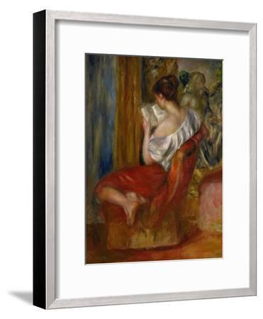 Reading Woman, circa 1900-Pierre-Auguste Renoir-Framed Giclee Print