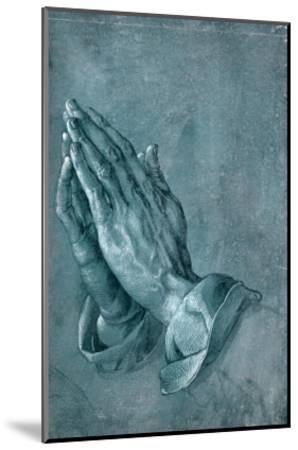 Praying Hands, 1508, Point of Brush and Black Ink, Heightened with White, on Blue Prepared Paper-Albrecht D?rer-Mounted Giclee Print