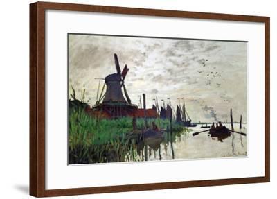 Windmill at Zaandam (Netherlands), 1871-Claude Monet-Framed Giclee Print