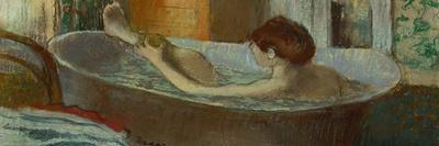 Woman in Her Bath, Washing a Leg, 1883-1884-Edgar Degas-Stretched Canvas Print