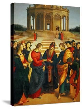 Marriage of the Virgin, 1504-Raphael-Stretched Canvas Print