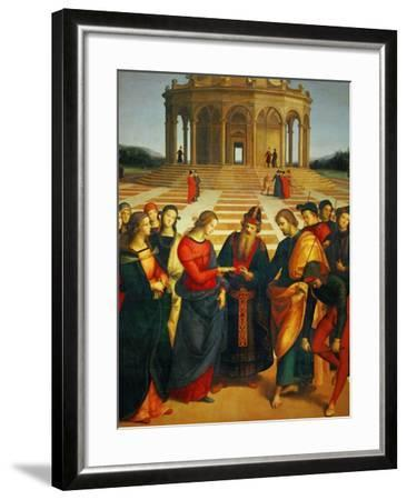 Marriage of the Virgin, 1504-Raphael-Framed Giclee Print