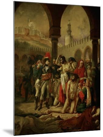Emperor Napoleon I Bonaparte Visiting the Plague-Stricken in Jaffa-Antoine-Jean Gros-Mounted Giclee Print
