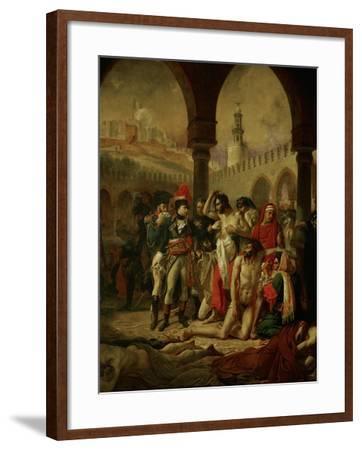 Emperor Napoleon I Bonaparte Visiting the Plague-Stricken in Jaffa-Antoine-Jean Gros-Framed Giclee Print