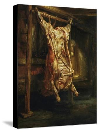 The Slaughtered Ox, 1655-Rembrandt van Rijn-Stretched Canvas Print