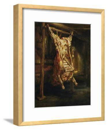 The Slaughtered Ox, 1655-Rembrandt van Rijn-Framed Giclee Print