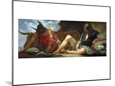 Mercury and Argos, 1659-Diego Velazquez-Mounted Giclee Print