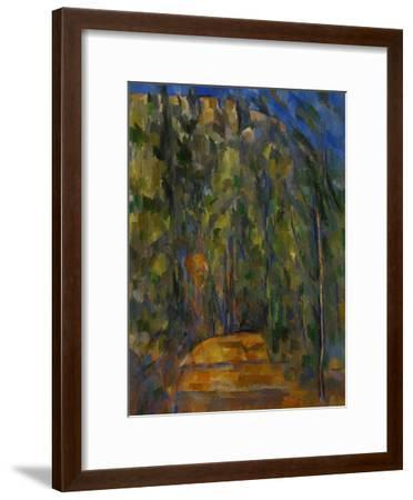 Bend in the Forest Road, 1902-1906-Paul C?zanne-Framed Giclee Print