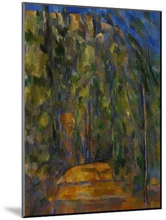 Bend in the Forest Road, 1902-1906-Paul C?zanne-Mounted Giclee Print