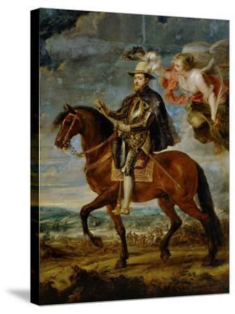 Equestrian Portrait of King Philip (Felipe) II of Spain (1527-1598)-Peter Paul Rubens-Stretched Canvas Print