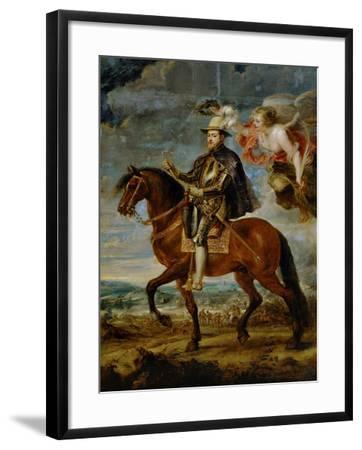 Equestrian Portrait of King Philip (Felipe) II of Spain (1527-1598)-Peter Paul Rubens-Framed Giclee Print