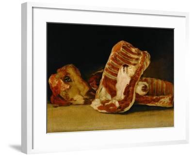 Still Life with Sheep's Head-Francisco de Goya-Framed Giclee Print