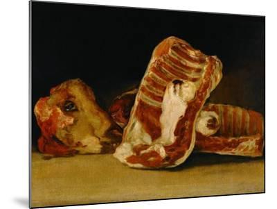 Still Life with Sheep's Head-Francisco de Goya-Mounted Giclee Print