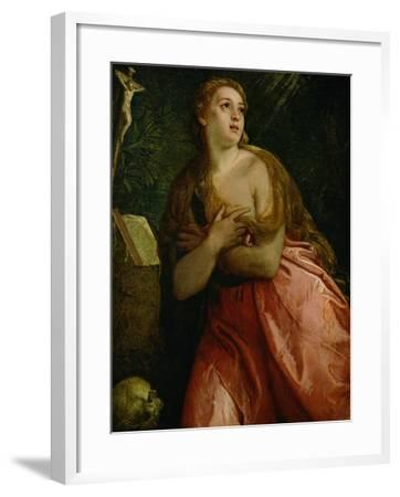 Mary Magdalen Penitent, 1583-Paolo Veronese-Framed Giclee Print