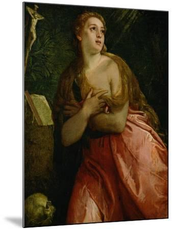 Mary Magdalen Penitent, 1583-Paolo Veronese-Mounted Giclee Print